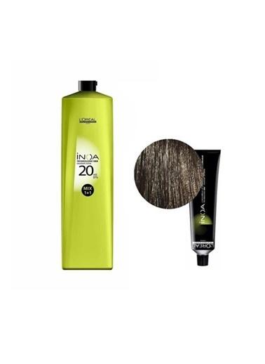 L'oreal Professionnel Loreal Inoa No:6 Saç Boyası 60 Gr+Oksidan 20 Vol. %6 1000 Ml Renksiz